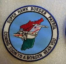 ARMY AVIATION PATCH, HSC 3RD MILITARY INTELLIGENCE BN (AE) SUPER HAWK BORDER  X