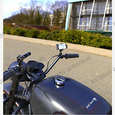CNC Billet Cell Phone Holder Handlebar Mobile Bars Mount For Harley 22mm 28mm