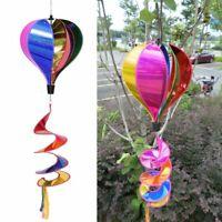 Air Balloon Wind Spinner Rainbow Sequins Windsock Striped Yard Outdoor Decor Hot