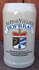 HOFBRAU GERMAN ALPINE VILLAGE TRAUNSTEIN  RASTAL BEER MUG GERMANY Deutschland