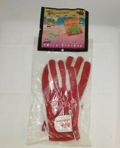 Rare NOS Pacific Palms BMX Gloves MINT in Bag Red /White Size XS old school bmx