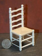 Dollhouse Miniature Kitchen Side Chair White 1:12 inch scale N84 Dollys Gallery