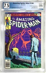 THE AMAZING SPIDER-MAN Comic # 196 1979 Marvel Comics Graded PGX 7.5 M Wolfman