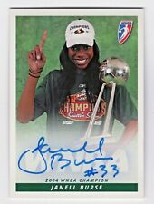 2005 Wnba Autograph Janell Burse Seattle Storm 2004 Championship Trophy
