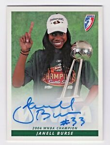 2005 WNBA Autographs #JB Janell Burse Seattle Storm 2004 Championship Trophy