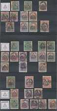 PERU 1883 Sc 79-85 GROUP OF 35 STAMPS FULL SET OVPT TYPES 1-4 MINT/USED SCV$1608