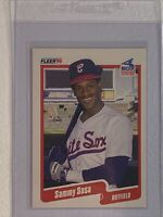 1990 Fleer Sammy Sosa #548 Baseball Card