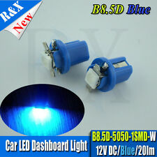 2 x BLUE 509T T5 B8.5D TWIST LOCK 509 5050 SMD LED SPEEDO DASH BULBS 12V 20LM