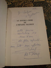 Michel de SAINT-PIERRE Le double crime de l'impasse Salomon 1984 E.O. Envoi