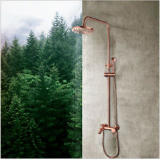 Us Vintage Copper Rainfall Shower Head Hand Shower Faucet Set Mixer Wall Mounted