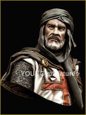 young miniatures templar knight resin bust 1/10   military model kit  yh1827