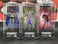 FiGPiN Batman The Animated Series Set Of 3 Batman, The Joker & Harley Quinn NIB