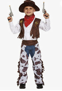 Cowboy Toddler Fancy Dress Up Costume Wild West  Outfit Age 3 Yrs