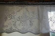 "Victorian Design cotton lace window valance cafe curtain Lucinda brise-bise 12"""