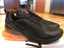 Nike Air Max 270 Black Total Orange Halloween AH8050 008 Men's Size 14