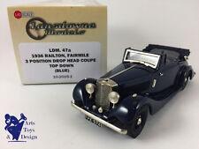 1/43 BROOKLIN LANSDOWNE 47A RAILTON FAIRMILE DROP HEAD COUPE TOP DOWN BLUE 1936