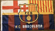 Barcelona 3x5 Flag Soccer Banner Spain Bandera Messi Catalunia Limited Edition