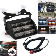 18 LED Emergency Vehicle Windshield Strobe Dash Warning Light Amber & White