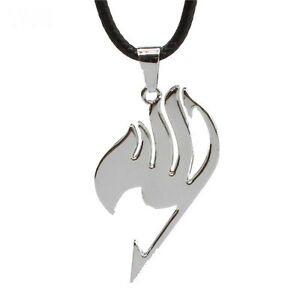 Cute Anime Fairy Tail Necklace Silver Metal Pendant Charm Cosplay Jewelry Gifts