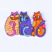 embroidered iron on sew on animal cat applique patches badges iron on