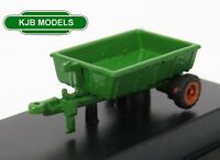 BNIB N GAUGE OXFORD DIECAST 1:148 NFARM005 Farm Trailer Green