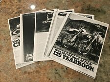 motocross action dirt bike magazine 125 shootout 1993 1994 1995 1996 cr rm kx yz