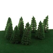20pcs/Set Plastic Deep Green Trees Model Miniature Kids Toys 1/150 N Scale