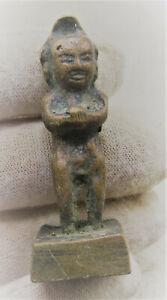 ANCIENT GANDHARA VOTIVE BRONZE STANDING BUDDHA AMULET CIRCA 200-300AD