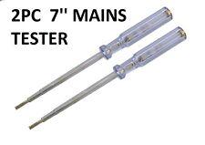 """2 piezas de 7 """"Red Tester prueba del circuito Tornillo conductor voltaje eléctrico prueba 200-250v"""