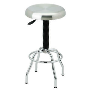 Seville Classics Commercial Pneumatic Work Stool with Stainless Steel Seat