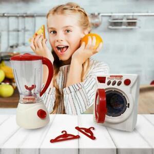 Children's Pretend Play Washing machine Set Toys With juicer, Hanger