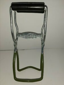VINTAGE Earth Grown Canning Jar Lifter Stainless with Rubber Handle