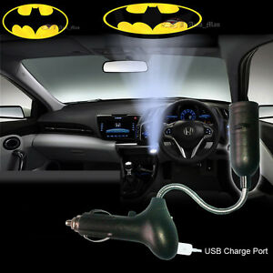 Batman Logo Car Cigarette Laser Projector Ghost Shadow Decorative CREE LED Light