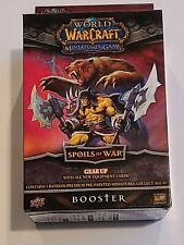 World Of Warcraft Miniatures Spoils Of War Booster Pack New- Free Shipping