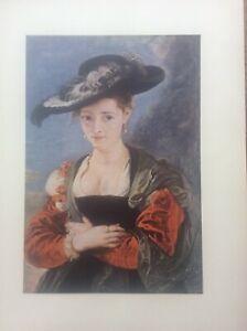 1958 Rubens Colour Print Susanne Fourment Le Chapeau De Paille 1622