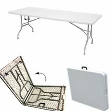 Large Foldable Camping Table Outdoor Pool Party Snack Dining Family BBQ Folding