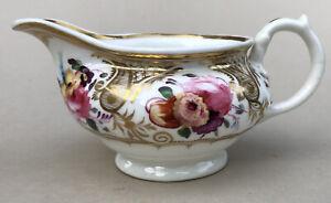 English Porcelain Creamer c1820 Rathbone? Pattern Number 240. Antique Porcelain