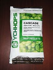 HOPS CASCADE  1lb PELLET HOPS YCHHOPS FACTORY PACKED FOR HOME BREWING BEER KIT