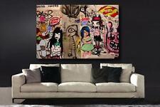 Grafitti MISS VAN  Street Art HIGH QUALITY CANVAS ART PRINT - Pop Art Urbanart