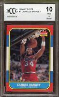 1986-87 Fleer #7 Charles Barkley Rookie Card BGS BCCG Beckett 10 Mint+