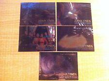 STAR TREK DEEP SPACE NINE COMPLETE SET OF 5 SPECTRA ETCH CARDS SP1-SP4+SPG