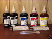 Non-OEM 4 colors 100ml x 5 bottles refill ink for Epson printer plus 4 syringes