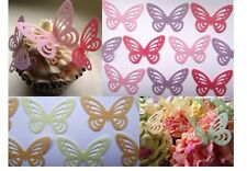 Stand Up Butterfly Cake decoratoins - Wedding Cupcake decorations  - All Colours