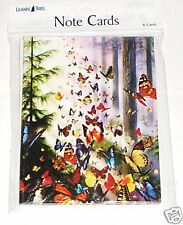 8 Leanin Tree Note Cards Lots Of Colorful BUTTERFLIES in Woods David Penfound