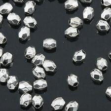 Tibetan Silver color mini irregular  faceted spacer beads 400pcs EF0158