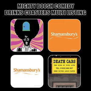 The MIGHTY BOOSH - Novelty Drinks Coasters / Bar Mat - Hardboard / Gloss Finish