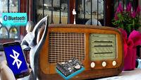 RADIO ANTICA UPGRADE BLUETOOTH SMARTPHONE APP ASCOLTO BROADCAST AM FM MONDO