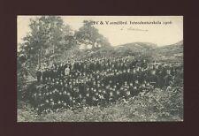 Sweden Military IV & V armeford Intendenturskola 1906 PPC