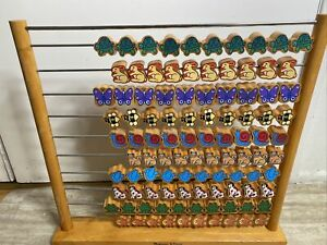 Melissa & Dong Large Abacus Counting Frame 100 Wooden Animal Beads Rare