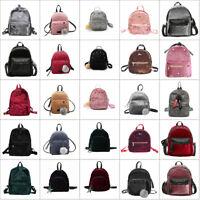 Women Lady Velvet Backpack Shoulder Bags Handbag Travel Rucksack School Bookbags